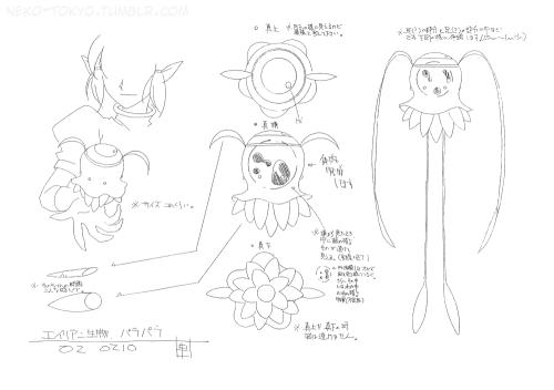 Tokyo Mew Mew Settei (Model Sheet)Para Para Alien (*) *These are the
