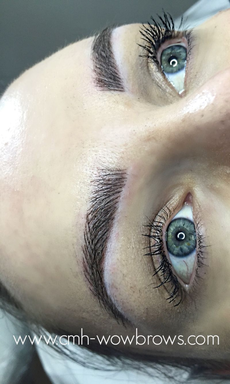 Feather Touch Hair Stroke Microblading Tattooed Eyebrows ...