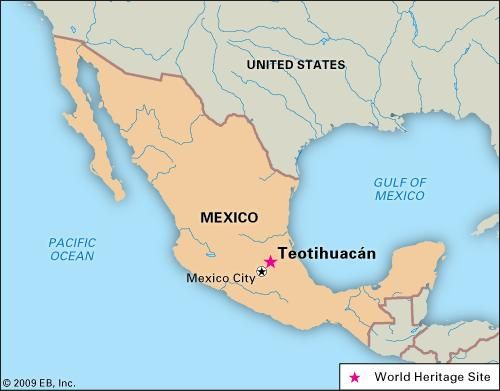 Location Of Teotihuacan Relative To Present Day Mexico City Mexico City Map Mexico City Teotihuacan