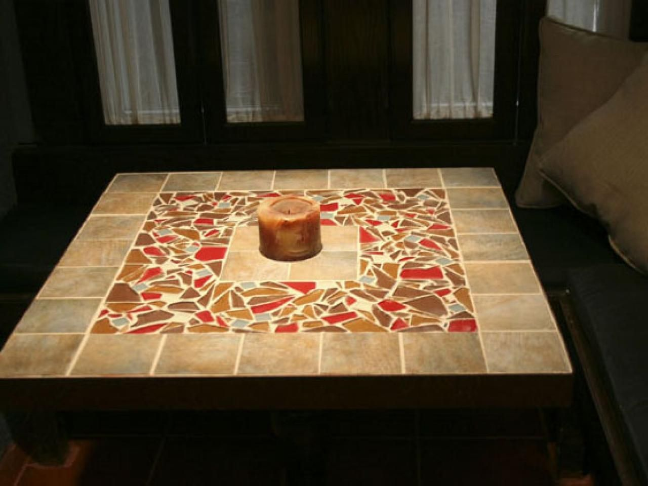 Small mosaic tiles for crafts - How To Make A Tile Mosaic Tabletop