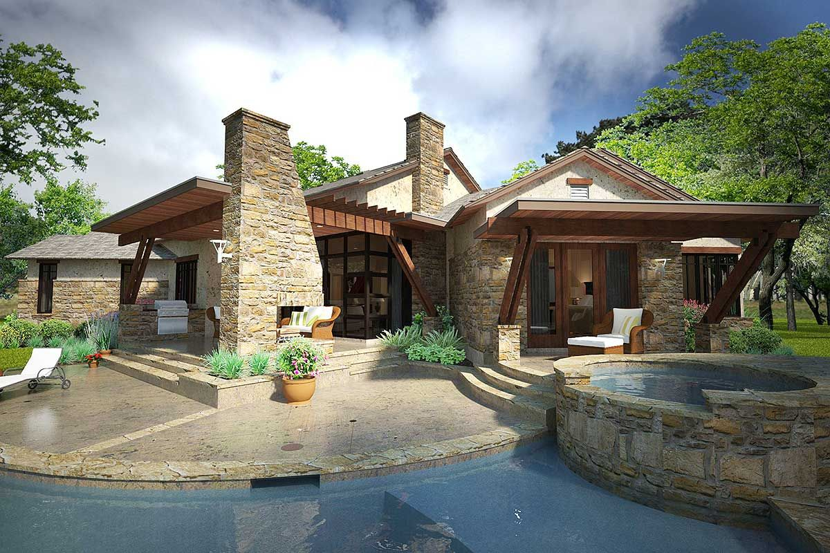 3 Bed House Plan with Dynamic Outdoor Living Country