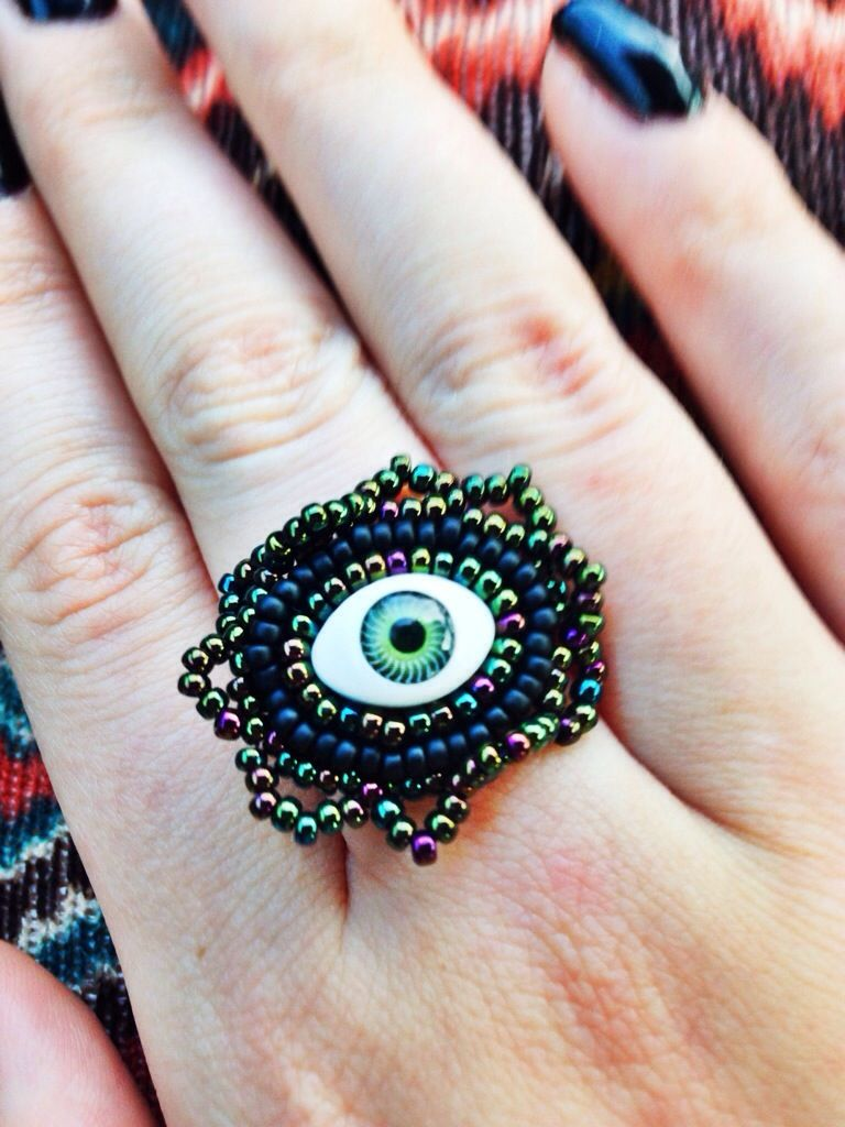 """When I opened the box my heart did a little flutter – it's just the right amount of cute/weird. I could stare into the evil little eye all day. I love wearing things that are a bit different, and this ring definitely did it for me!"""