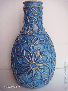 Декор предметов 8 марта Новый год Аппликация из скрученных жгутиков Восточная ваза Салфетки фото 1