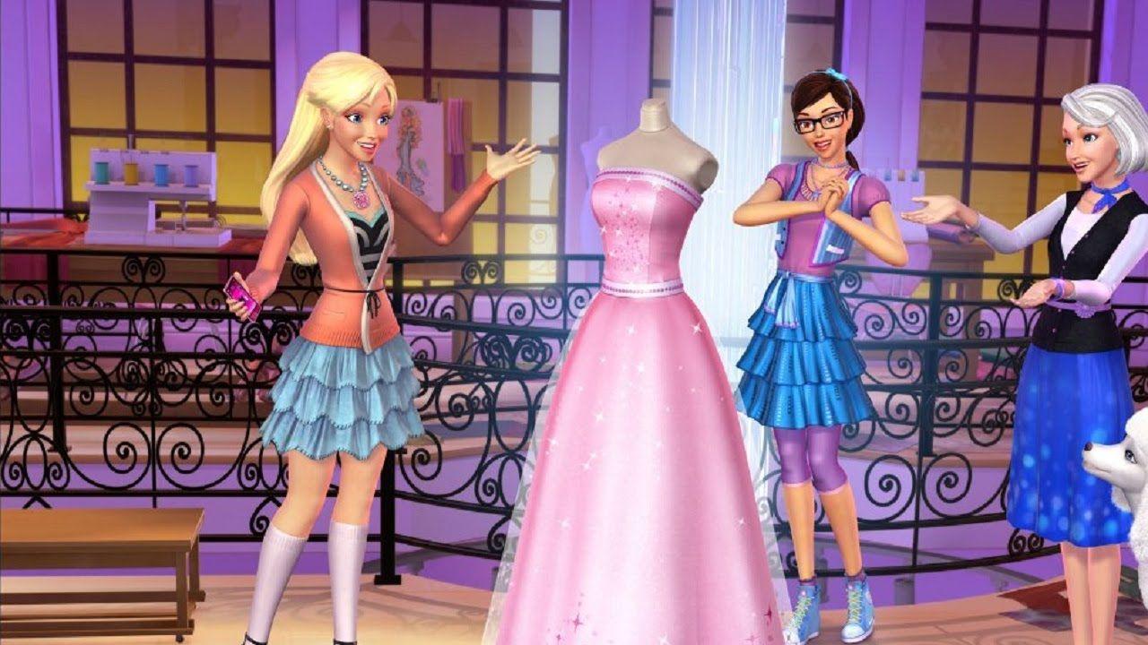Barbie Modezauber In Paris 2016 Deutsch Ganzer Film Barbie Filme Deu Barbie Prinzessin Barbie Kleider Modestil
