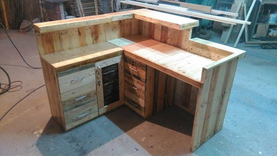 Pallet Office Desk Reception Desk Reception desks Office