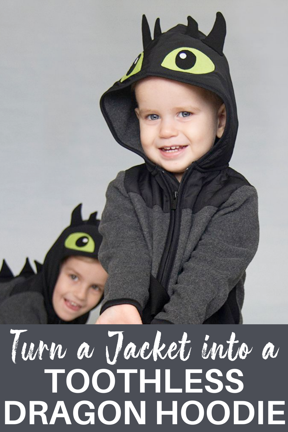 Make A Toothless Dragon Hoodie From An Existing Jacket Dragon Hoodie Toothless Dragon Diy Costumes Kids