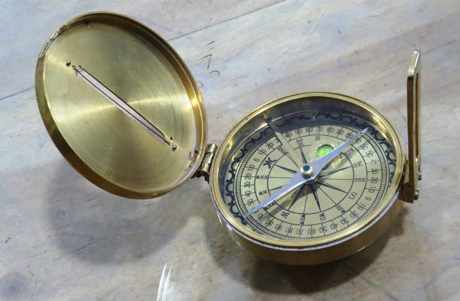 Larp Armory Antique Vintage Maritime Brass Compass Ebay Larp Antiques Compass