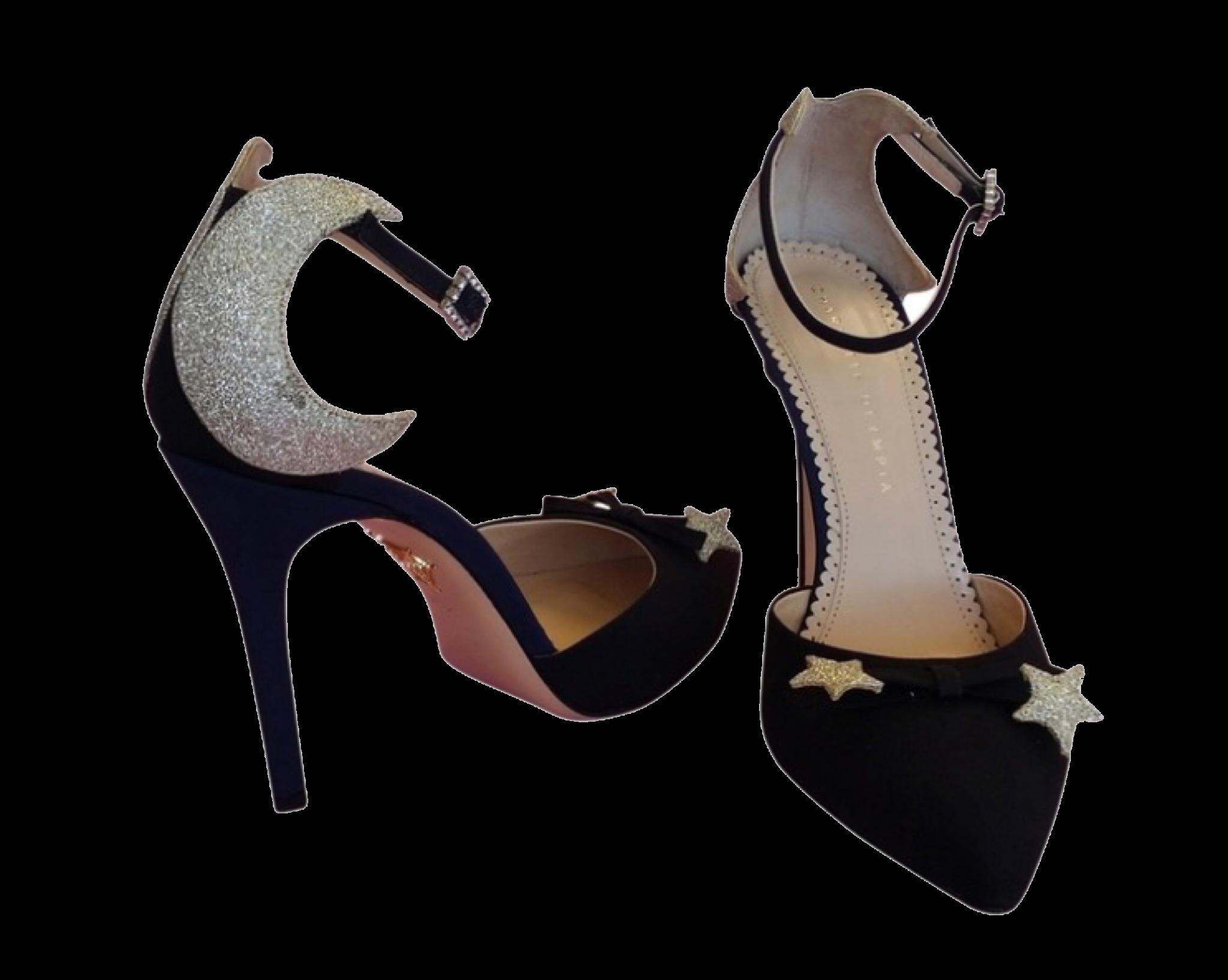 Black Moon Heels Polyvore Moodboard Filler Black Pumps Heels Navy Pumps Gold Glitter Shoes