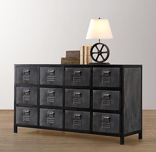 Shop Vintage Locker Wide Dresser Products On Houzz Pertaining To Locker  Style Bedroom Furniture Decor