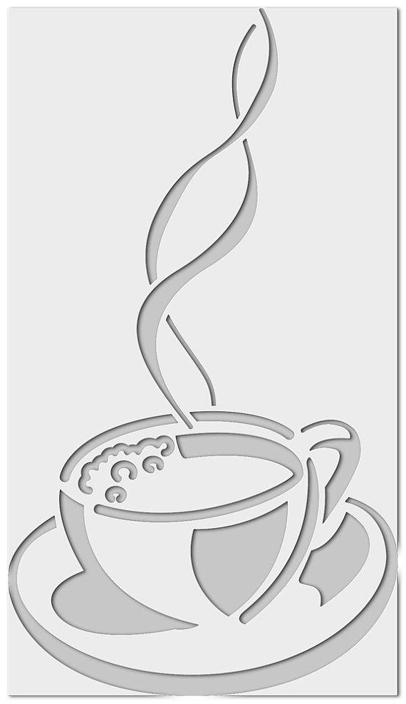 Template Kaffeetasse 0150 Stenciles Pinterest