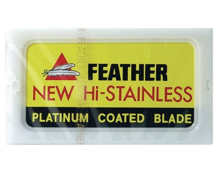 Feather histainless double edge de safety razor blades