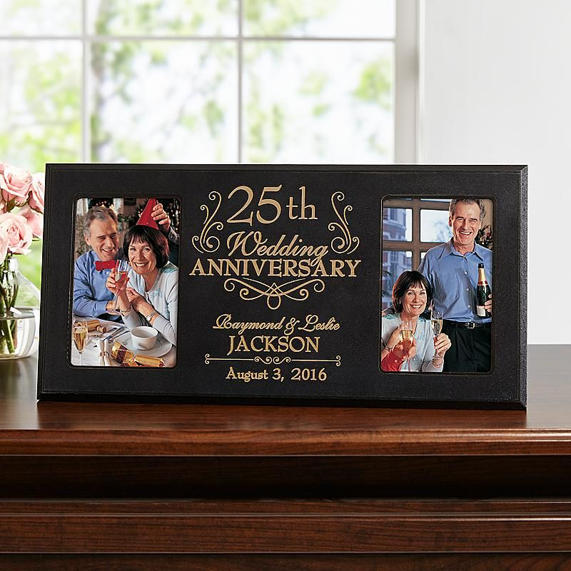 Then Now Anniversary Frame 50th Giftsgolden Wedding Anniversniversary Photospersonalized