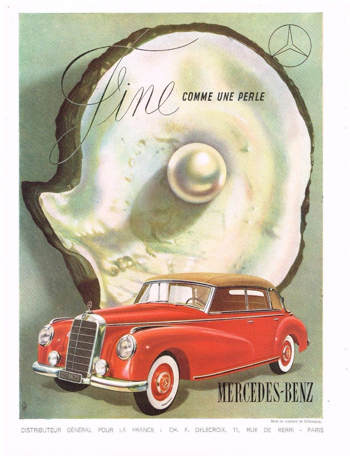 Original MERCEDES-BENZ CAR AD AUTOMOBILIA 1950s Vintage Print Advertising SSV • AUD 34.56 - PicClick AU