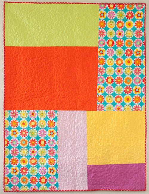 Little Bluebell: Finished Quilt: Skittles