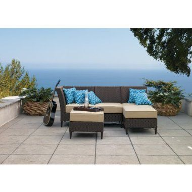 Outdoor Patio Cascadia 3-piece wicker sectional ... on Cascadia Outdoor Living Spaces id=33718