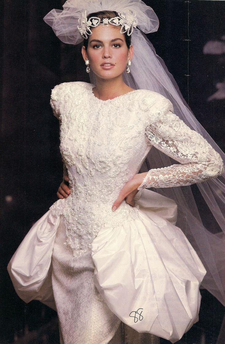 Vintage Brides (Cindy Crawford in 1980\'s bridal) | Vintage and ...