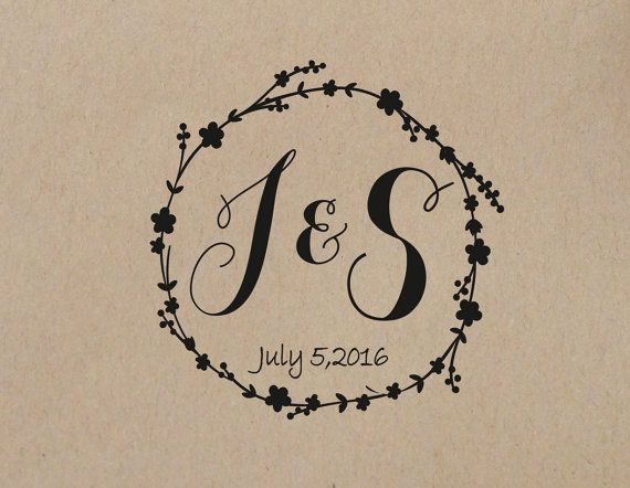 Wedding Custom Stamp Wreath Personalized Is Ideal For Favors Save The Dates