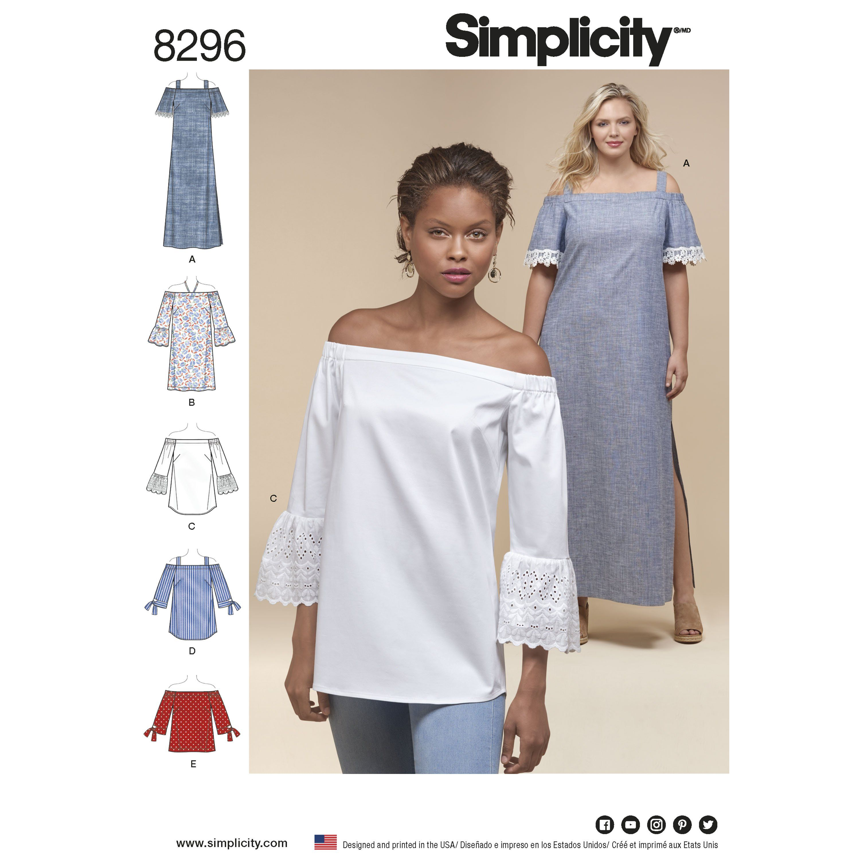 Simplicity 8296 Misses\'/Petite/Women\'s Dress and Tops | Fashion ...
