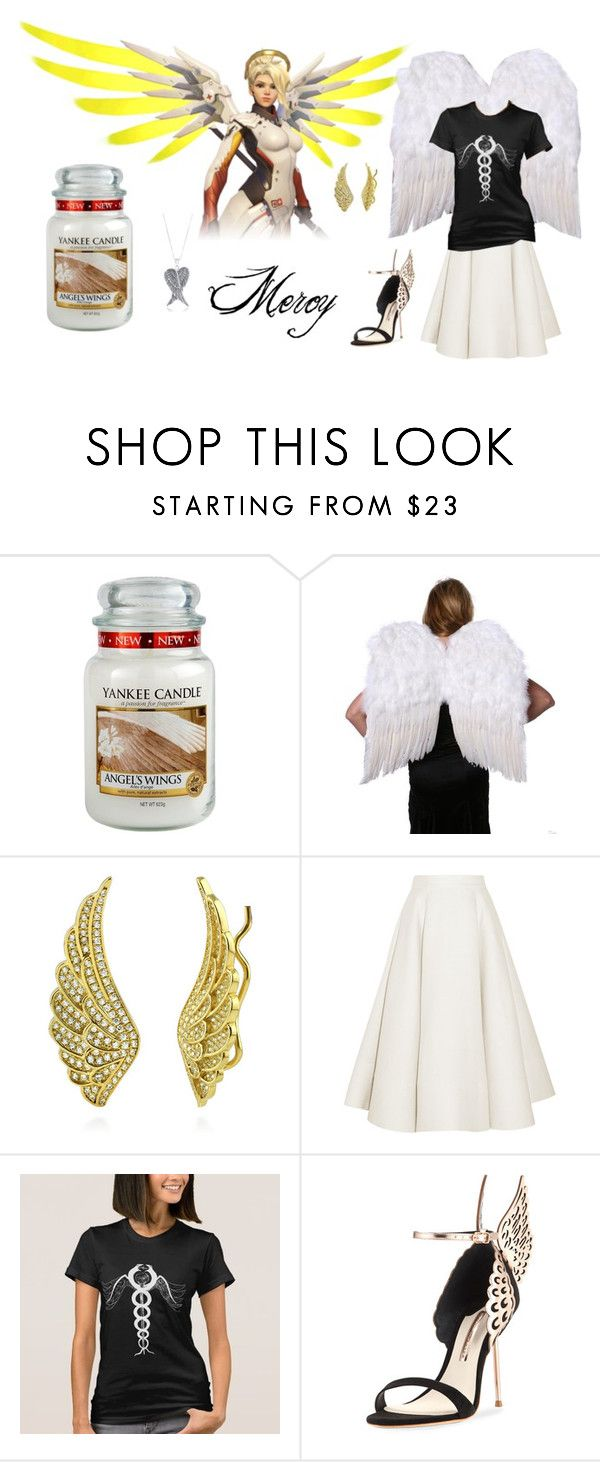 """""""Heroes Never Die"""" by lacelives ❤ liked on Polyvore featuring Yankee Candle, BERRICLE, Roksanda, Sophia Webster, La Preciosa, mercy and Overwatch"""