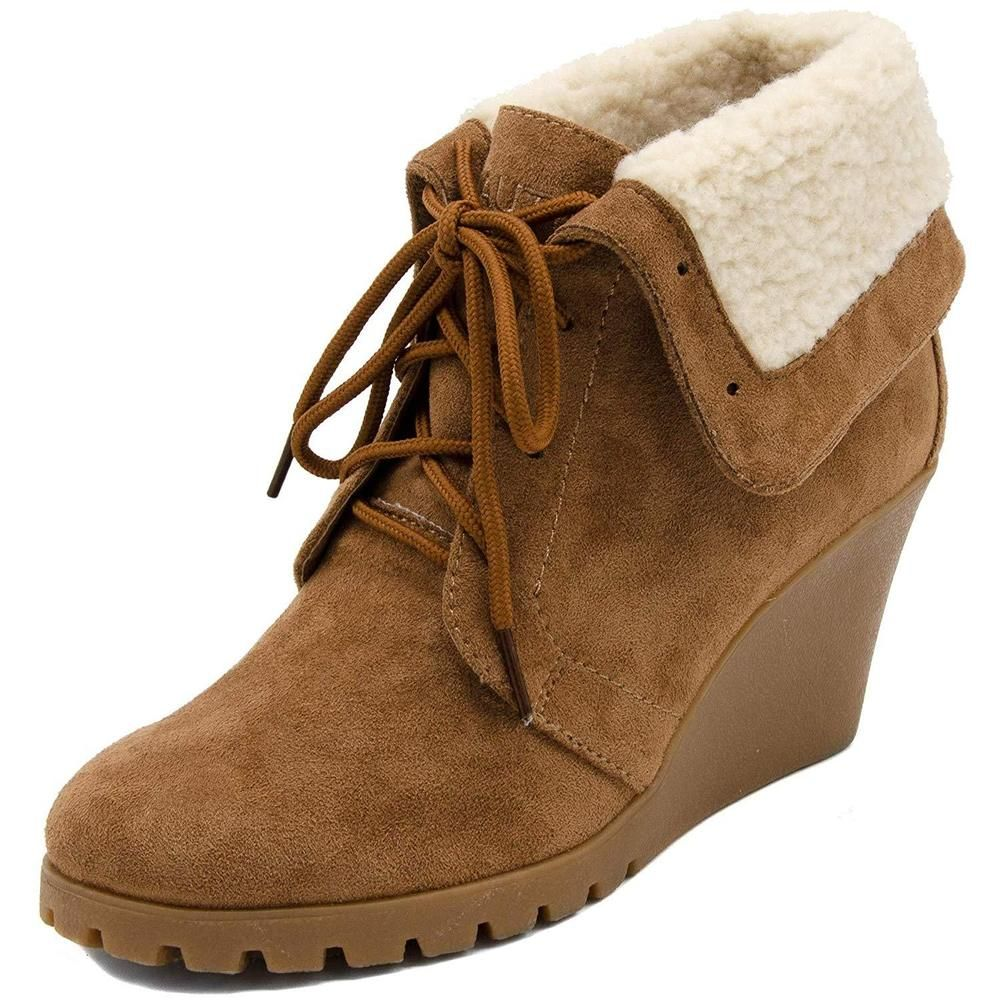 deea0632c31 Nautica Womens New Rendon Lace-Up Boot Wedge Ankle Bootie With Fold Over  Sherpa  fashion  clothing  shoes  accessories  womensshoes  boots (ebay  link)
