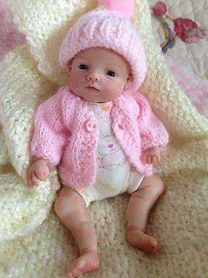"OOAK MINI prosculpt polymer clay newborn baby girl sculpt art doll 6""5 DAYS NR!!"