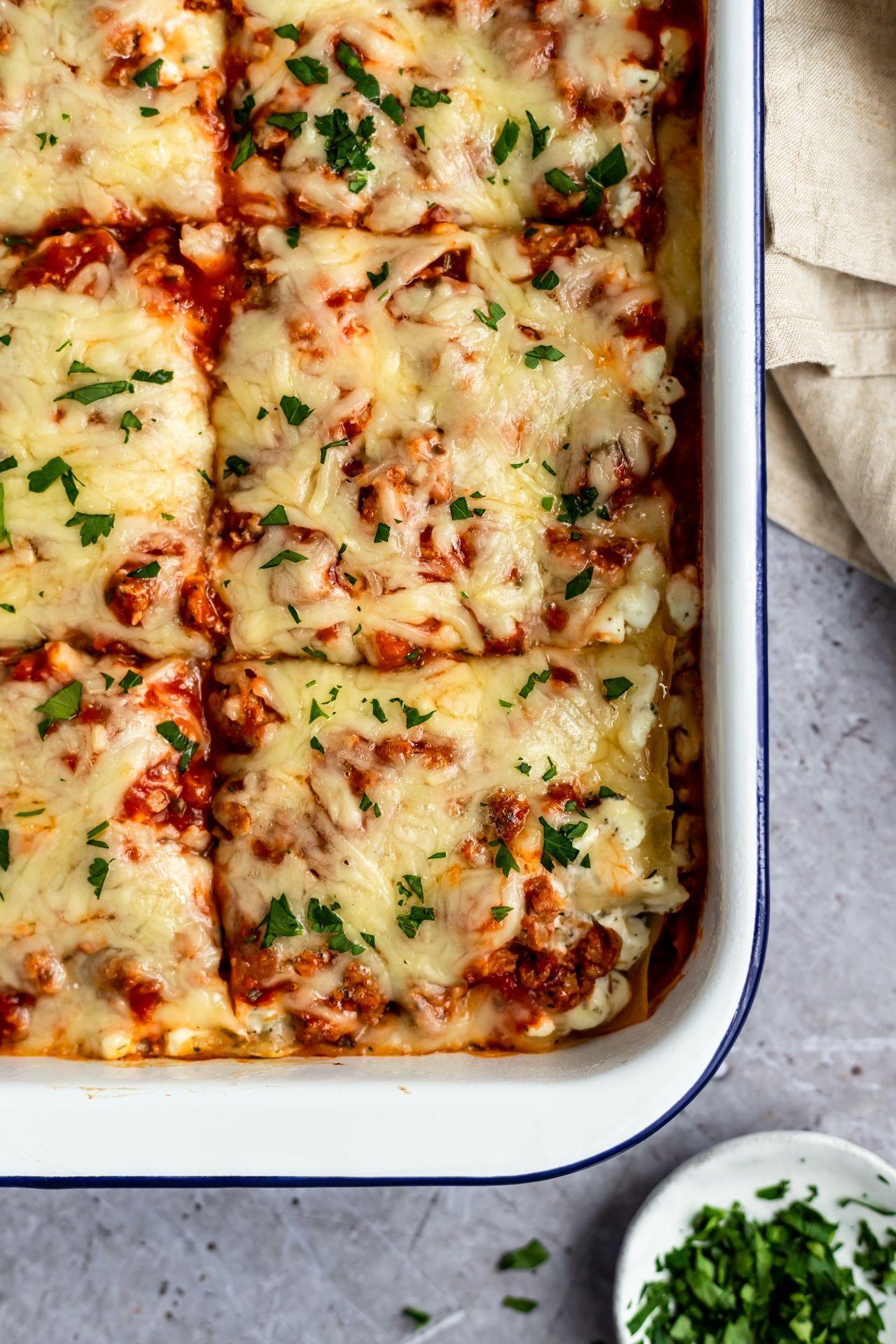 Lasagnes Saines Faciles In 2020 Easy Lasagna Recipe Lasagna Recipe Healthy Lasagna
