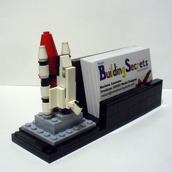 Custom mini space shuttle lego business card holder business card i need something like this for my office desk lego business card holder reheart