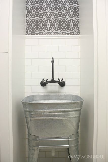 How To Fix The Wrong Grout Color Laundry Room Sink Wash Tub Sink Laundry Room Makeover