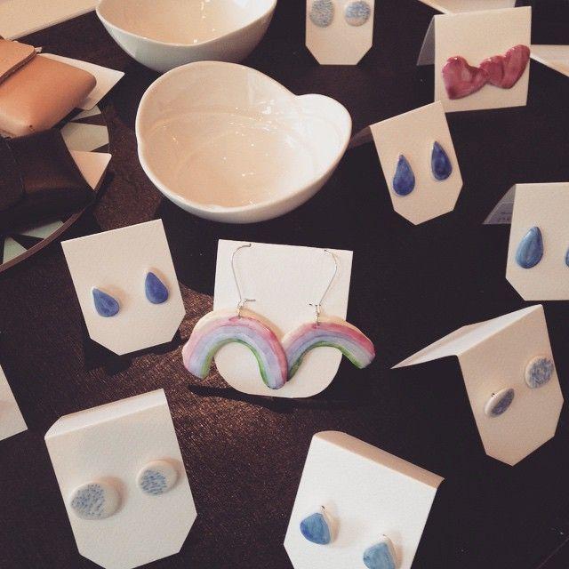 #siinalevonoja #porcelain #earrings #finnish #design @supermukava  Siina Levonojalta saapui kaunista täydennystä ☔️ Korvakorut / 23-32€. Pilvi-kulhot / 33€ #newarrivals