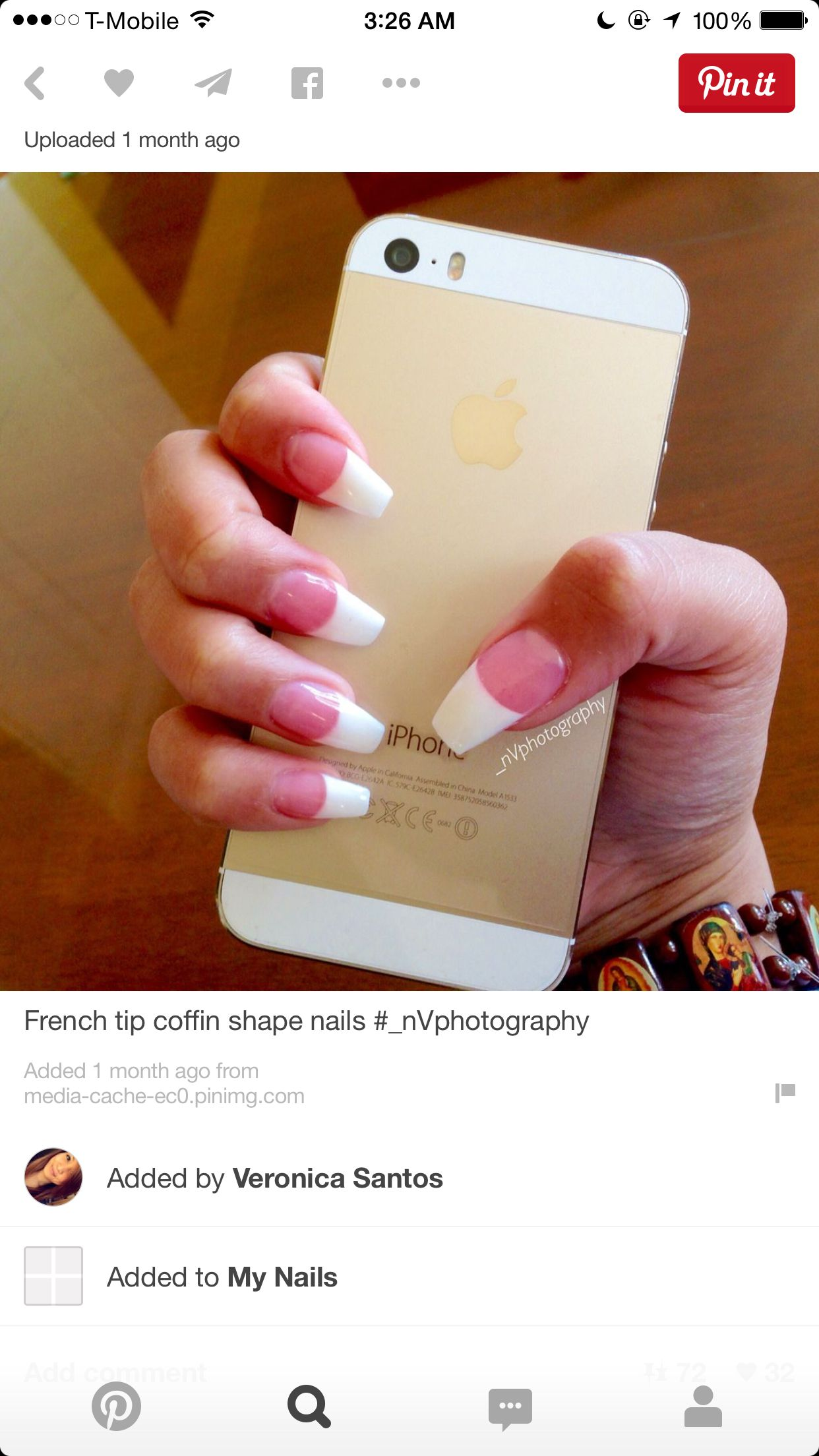 French manicure coffin | 3. Double Team + Dynamicpunch Amazing ...