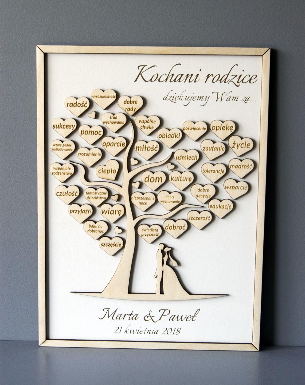 Podziekowania Dla Rodzicow Drzewko Grawer 7126233296 Oficjalne Archiwum Allegro Wedding Planer Wedding Time Wedding Planning