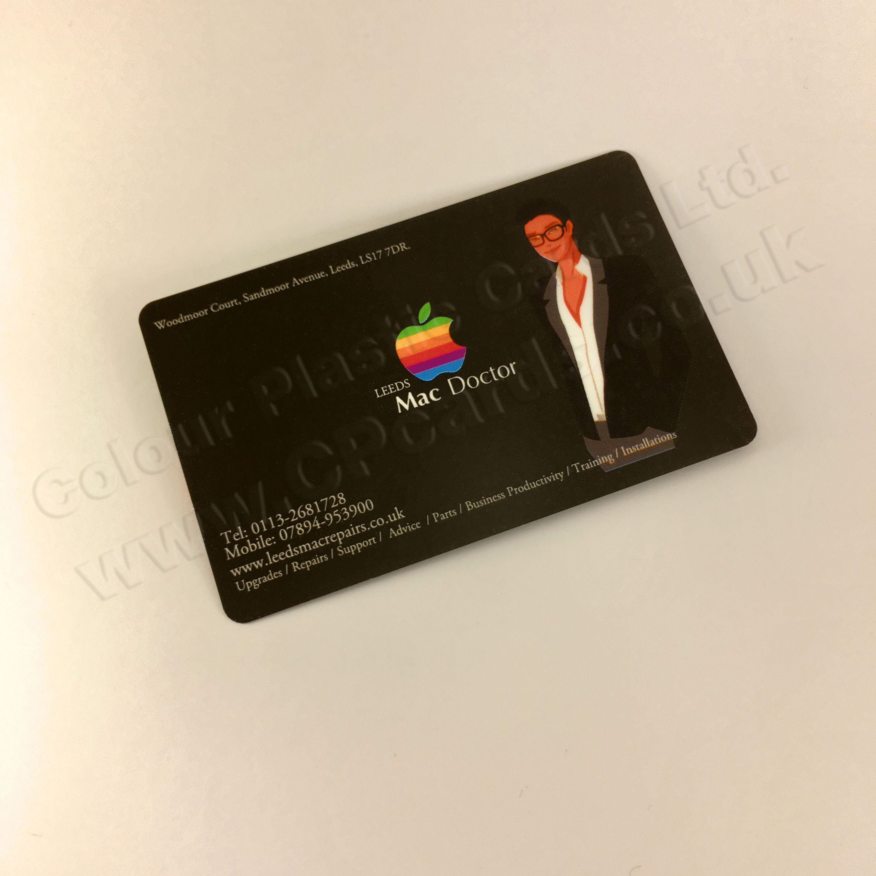 Full Colour Plastic Business Cards. We offer free artwork and free ...