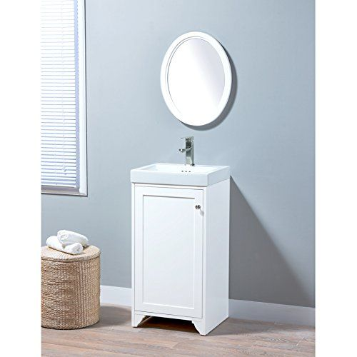 Maykke Wren 19 Inch Bathroom Vanity Set In Birch Wood Whi Https