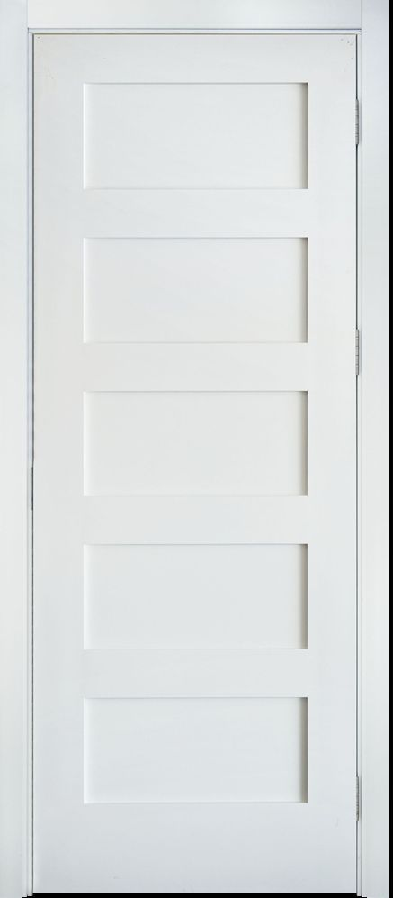 Primed White 5 Panel Solid Core Shaker Mission Style Interior Door In 1012 In 2020 Interior Door Styles White