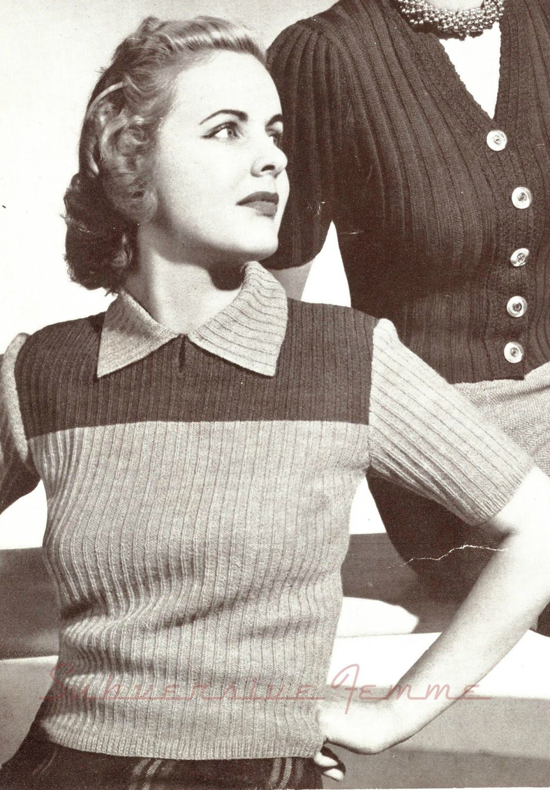 The vintage pattern files free 1940s knitting pattern prelude the vintage pattern files free 1940s knitting pattern prelude yoked jumper bankloansurffo Image collections