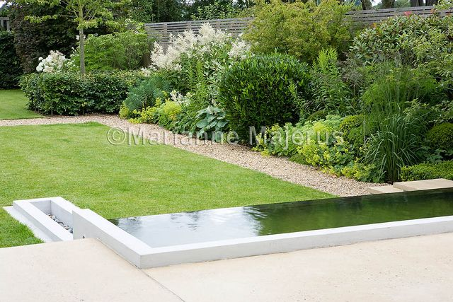 Garden Design For Families large family garden | contemporary water pool in large town garden