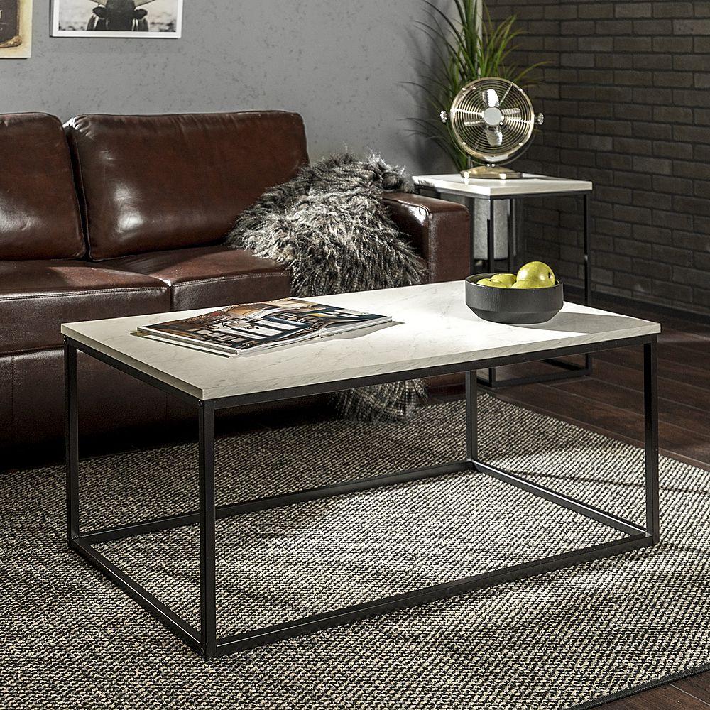 Walker Edison Rectangular Coffee Table Faux Marble Black Bb42lwsqmb Best Buy Coffee Table Rectangular Coffee Table Contemporary Coffee Table [ 1000 x 1000 Pixel ]