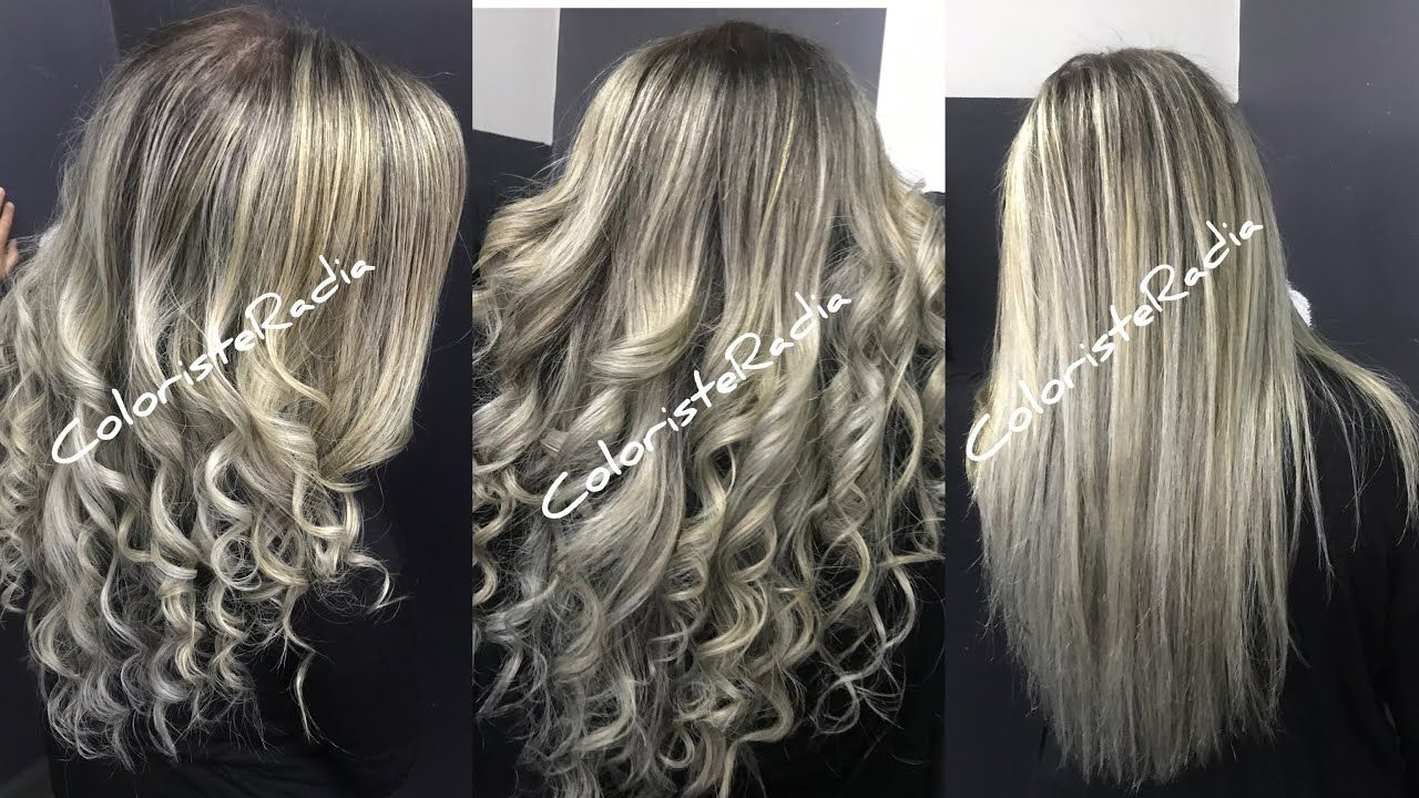 Highlight بالياج بلاتين Airtouch Coloring The Best Technique Of The Season By Radiacoloriste Youtube Hair Styles Long Hair Styles Hair