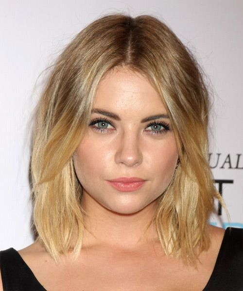 Ashley Benson Medium Straight Casual Hairstyle Dark Blonde Hair