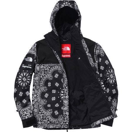 Supreme X North Face Bandana Jacket Black Jackets