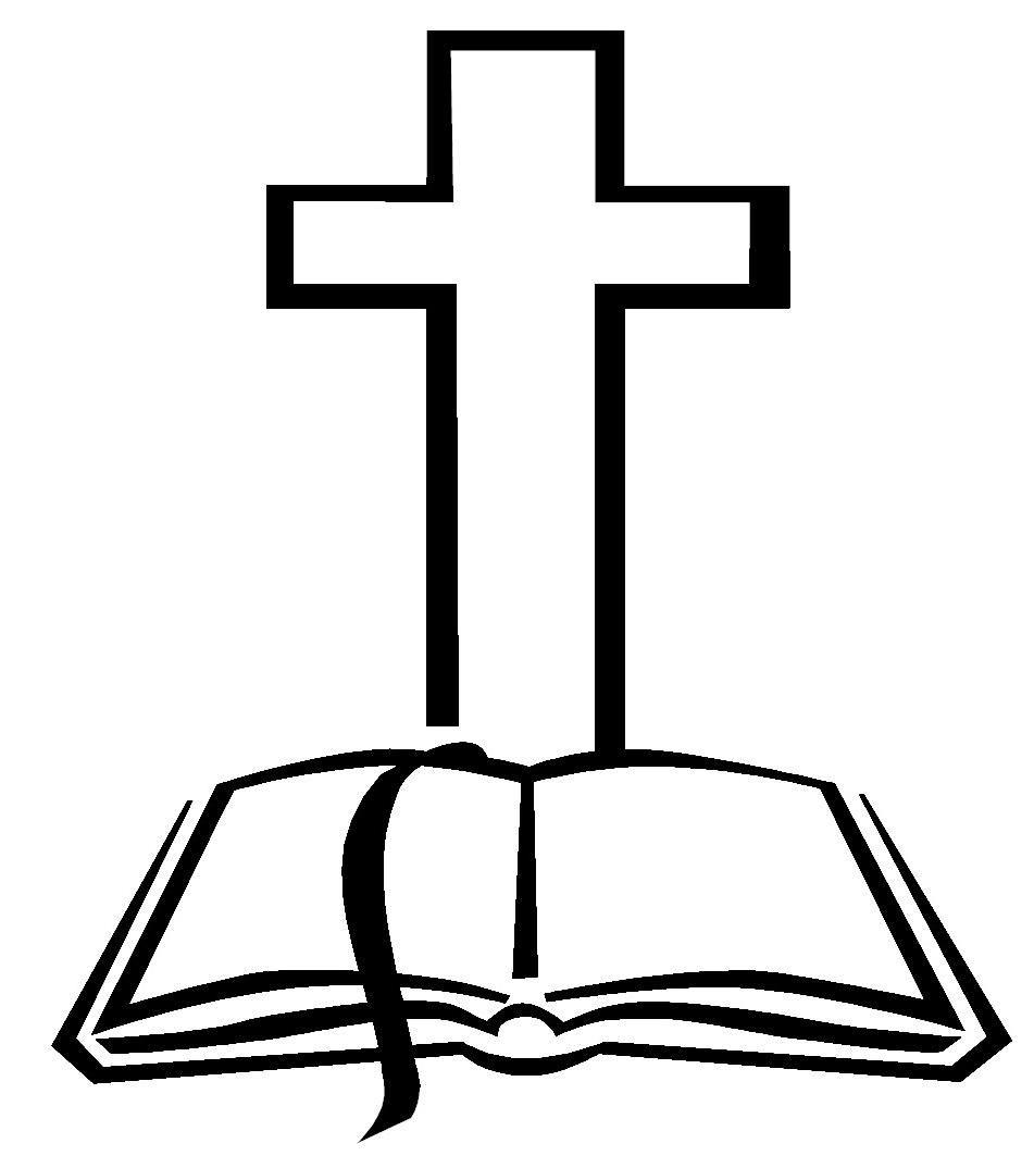 Unique cross black and white catholic clipart images ...