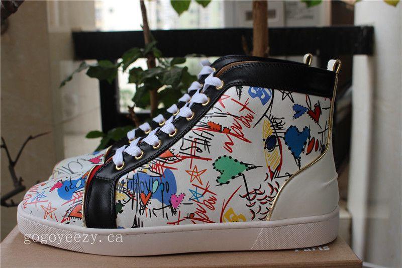 0ffa1d408e6 Christian Louboutin Louis Flat Loubi Graffiti White | Men's Shoes ...