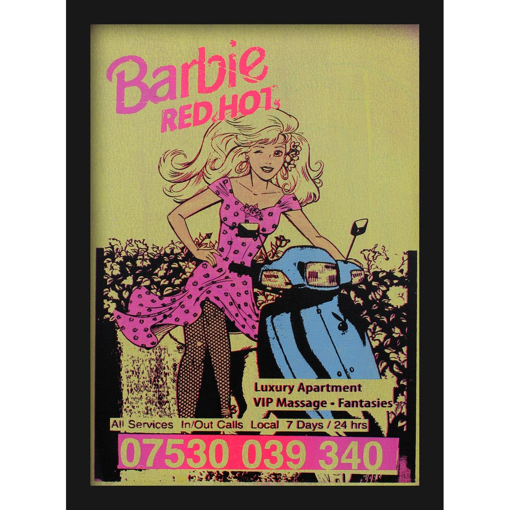 Red hot barbie by imbue edition of 20 red hot prints