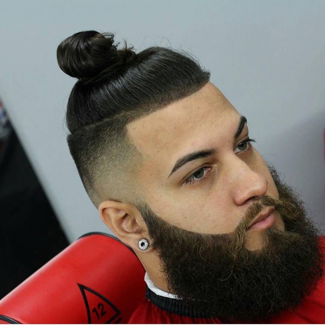 2017 man bun, bun hairtsyles , hair styles with beard, beard with ...