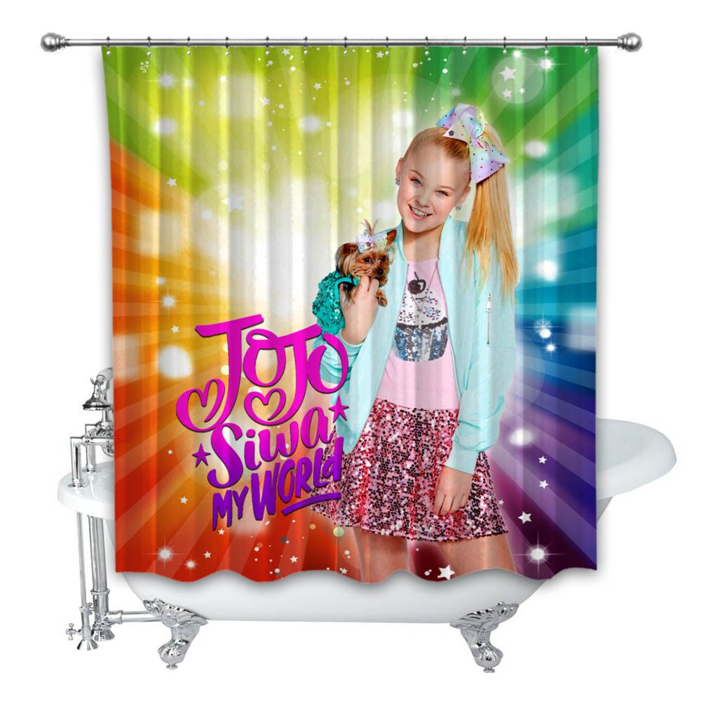 jojo siwa hair my world shower curtain