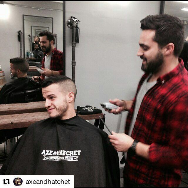 #Repost from authorized retailer @axeandhatchet doing their pre game cut with @sebagiovincoofficial. Good luck tonight @torontofc  @mls Best and @torontofc Star @sebagiovincoofficial in for his pre-game ritual with @danteperrone @axeandhatchet. Good luck tonight. Lets bring home that cup. #mls #mlscup #axeandhatchet #toronto #grooming #club #barber #liberty #village #mensfashion #lifestyle #tfc
