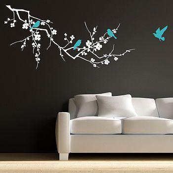 birds on branch wall stickers   pinterest   wall sticker, bird and walls