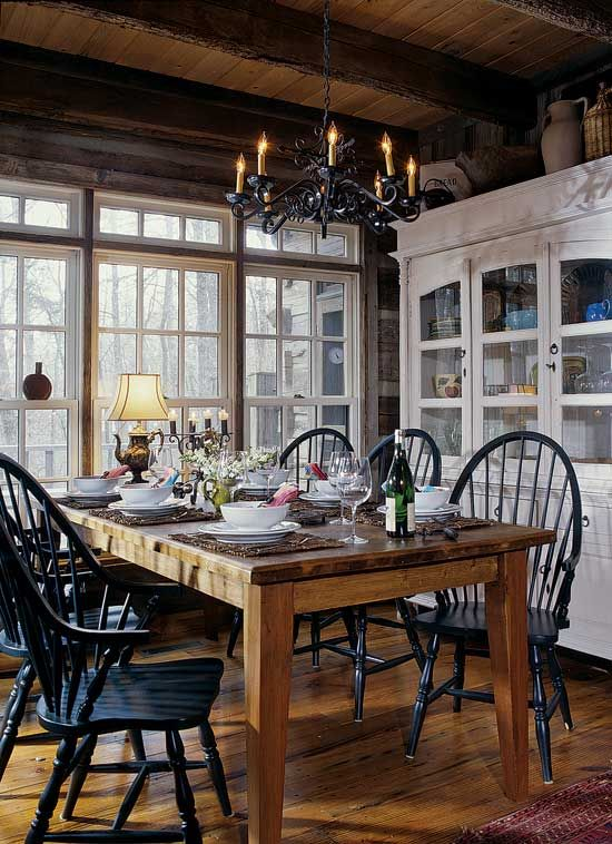 How to Create a Rustic Dining Space The Key Ingredients Black