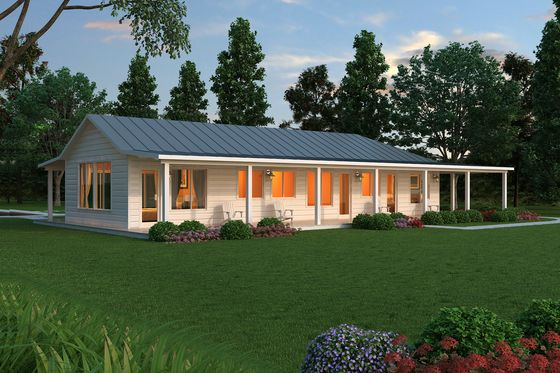 Ranch Style House Plan 2 Beds 2 5 Baths 2507 Sq Ft Plan 888 5 Ranch Style House Plans Ranch House Exterior Ranch Style Homes