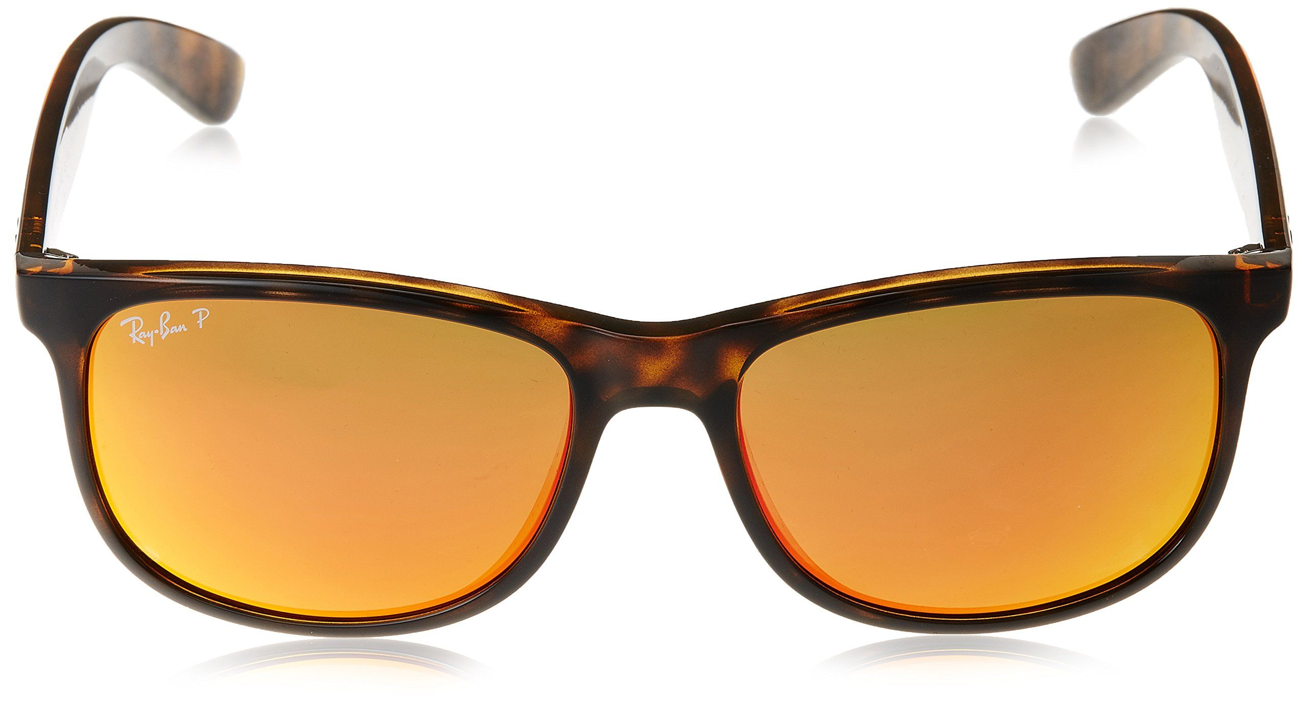 53460691df RayBan ANDY F RB4202F Sunglasses 710 6S57 Shiny Havana Frame Dark Brown  Mirror Orange Polar -- For more information